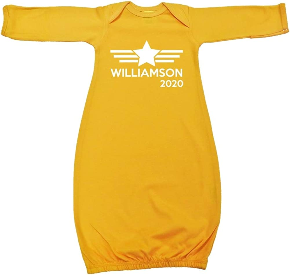 Mashed Clothing Williamson 2020 Presidential Election 2020 Baby Cotton Sleeper Gown