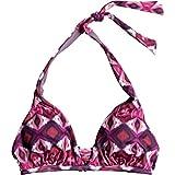Roxy Womens Prt Strappy Love 70s Top Swimwear Small Grape Wine Gerona