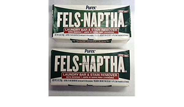 Amazon.com: 2-5.5 Oz. Bars Fels-Naptha Soap by Purex by Purex: Health & Personal Care