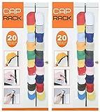 Cap Rack 20 - Baseball Cap Over the Door Holder (Black) - 2 Pack