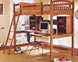 Cheap Wood Workstation Bunkbed Bunk Bed Office Computer Desk