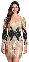 Short Sequin Dress With Sleeves
