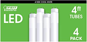 Feit 4 FT LED Replacement Tubes, 4-pack