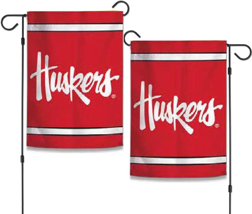 "WinCraft NCAA Nebraska Cornhuskers 12.5"" x 18"" Inch 2-Sided Garden Flag Huskers"
