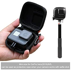 SUREWO Surface-Waterproof Carrying Case Compatible with GoPro Hero 7/(2018)/6/5 Black,Session 5/4,Hero 3+,AKASO/Campark/YI Action Camera and More(Mini)