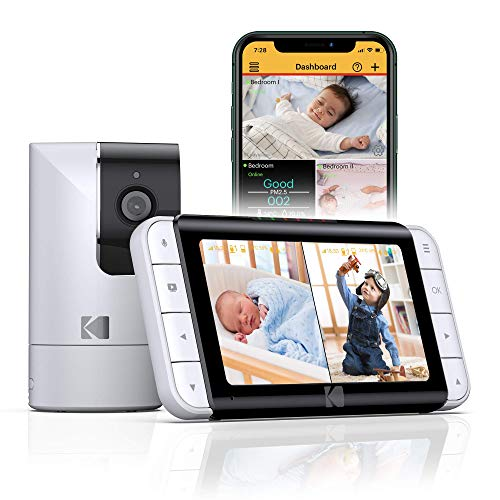 KODAK CHERISH C525P Smart Video Baby Monitor, Video for Clear and Confident Check-Ins, User-Friendly Setup and Use and…