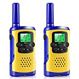 Kids Walkie Talkies, 22-Channel FRS/GMRS Radio, 3-Mile Range Two Way Radios with Flashlight and LCD Screen