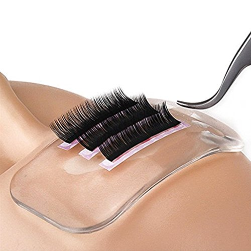 MISMXC Reusable Silicone False Eye Lashes Holder Pad Tray for Eyelashes Extensions (Clear)