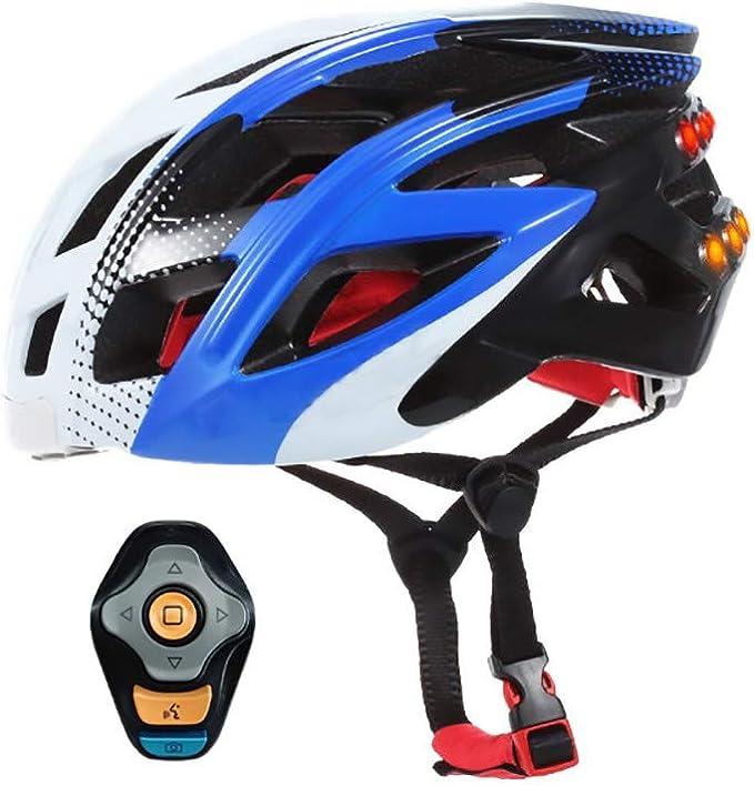 ZXASDC Casco Bicicleta, Casco Luz Trasera Bicicleta de Carretera Protección de Seguridad Ajustable Deporte Ligera para Montar Bicicleta Bicicleta BMX Scooter Skate Inteligente,Unisexo: Amazon.es: Hogar