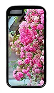 Brian114 iPhone 5C Case - Pink Rose Soft Rubber Black iPhone 5C Cover, iPhone 5C Cases, Cute iPhone 5c Case