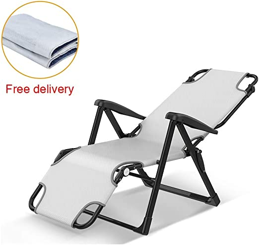 Foldable Outdoor Sunlounger with Canopy Sun Lounger Deck Relax Chair Sun Bed NEW