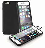 Iphone De Apple 6s Best Deals - Cadorabo - Silicone TPU cover (Full Body - protection) for Apple iPhone 6 PLUS / 6S PLUS - Etui Case Protection Bumper Skin - 360° Complete Protection in OXIDE-BLACK