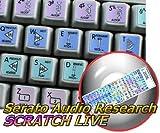 12X12 SIZE STICKER FOR KEYBOARD SERATO SCRATCH LIVE GALAXY SERIES