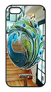 Customized beautiful glass craft of peacock Case, beautiful glass craft of peacock Personalized Case Iphone 5 5s.