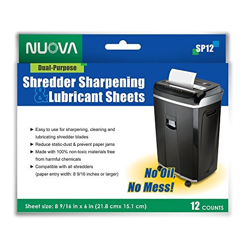 - Nuova SP12 Shredder Sharpening & Lubricant Sheets, 12 Count