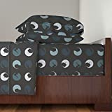 Roostery Film Noir 3pc Sheet Set Film Noir Silhouette by Smuk Twin Sheet Set made with