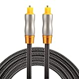 Optical Cables, 1.5m OD6.0mm Gold Plated Metal Head Woven Line Toslink Male to Male Digital Optical Audio Cable