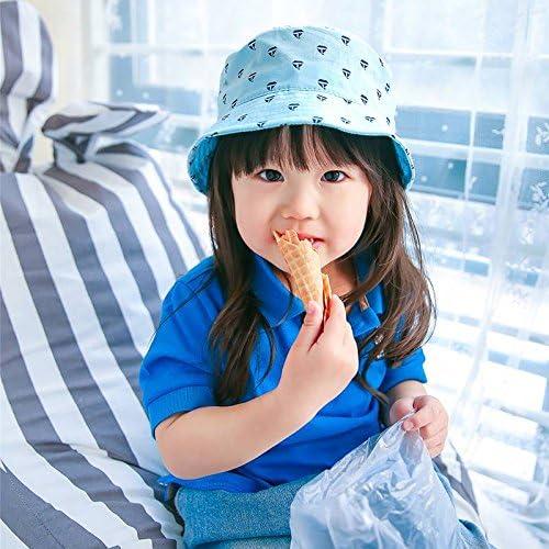 COMVIP Baby Cute Cotton Sun Protective Lightweight Bucket Sun Hat