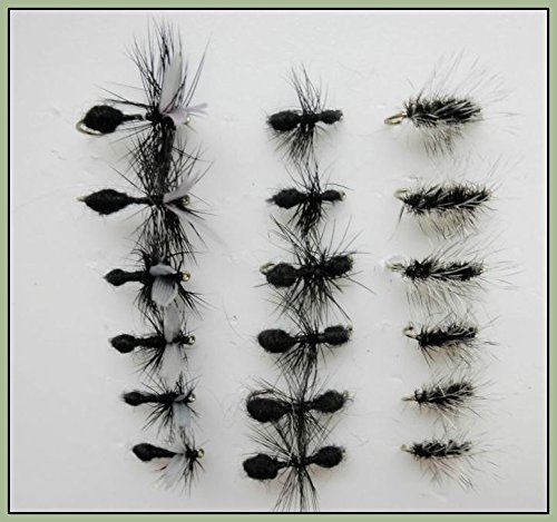 18 Dry Trout Moscas Negro hormigas y Griffiths tipulidae, variedad de tamaños disponible Troutflies UK X313