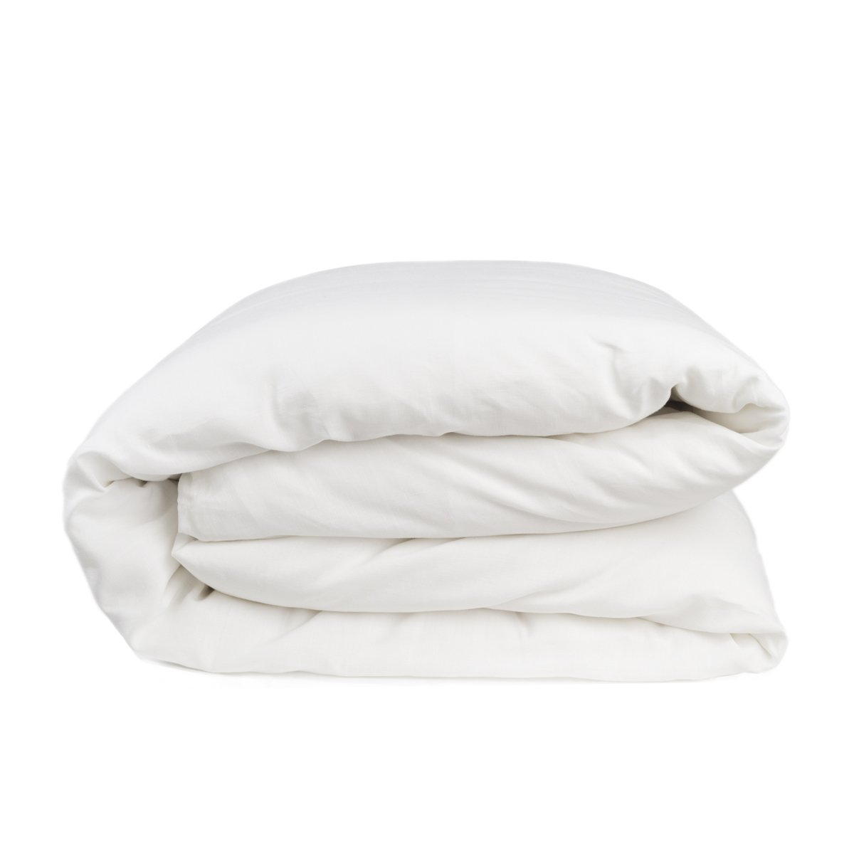 European Made Pure Linen Duvet Cover. 100% Fine Organic and Natural Flax (King, Pure White) by Len Linum
