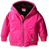 Carhartt Little Girls' Toddler Wildwood Jacket, Raspberry Rose, 3T