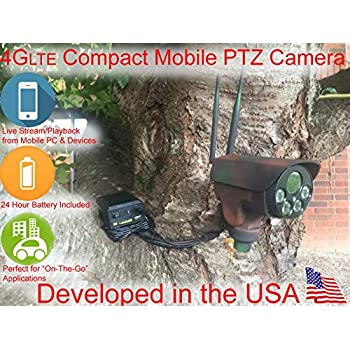 Image of Camera & Photo AES RD-85EZ 4G LTE PTZ 10x Zoom Mobile Outdoor Spy Battery Powered Police Law Enforcement Sting Surveillance Mobile Trail Cam Security Military Grade Bullet Camera (Remote View, Playback and Alerts)