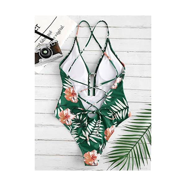 ZAFUL Bikini Donna Costumi da Bagno Imbottiti Bechwear in Costume da Bagno Foreale Vintage 3 spesavip