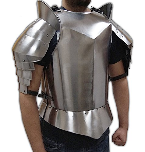 (ITDC Recreation Medieval Armour - Breastplate, Shoulders, and Upper Arm Protection - Wearable Costume Armor)