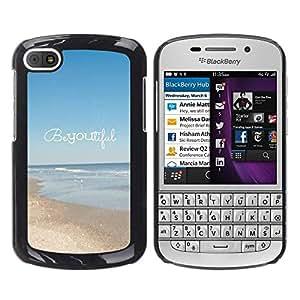 """For BlackBerry Q10 Case , Hermoso verano motivación texto"""" - Diseño Patrón Teléfono Caso Cubierta Case Bumper Duro Protección Case Cover Funda"""