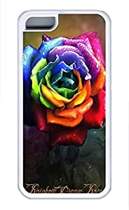 Red RoseFor SamSung Note 4 Case Cover (Flowers Series, Watercolor style, White)