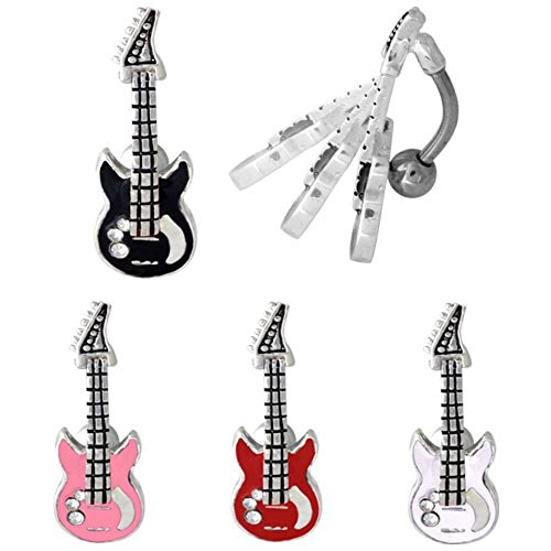 Guitar Belly Button Ring - 8