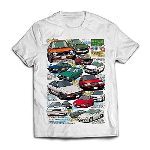 (100% Ring-Spun Cotton T-Shirt [AE86 Corolla Party] Toyota TEQ (Large))
