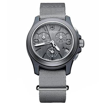 Victorinox Swiss Army Men's 241532 Original Chronograph Grey Nylon Strap Watch