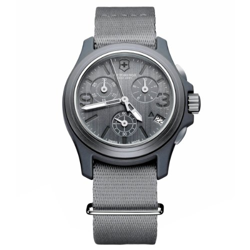 Victorinox Swiss Army Men's 241532 Original Chronograph Grey Nylon Strap Watch by Victorinox