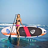 MD Group SUP Board Stand Up Paddle 10Ft. Inflatable with Fin Adjustable Paddle Backpack