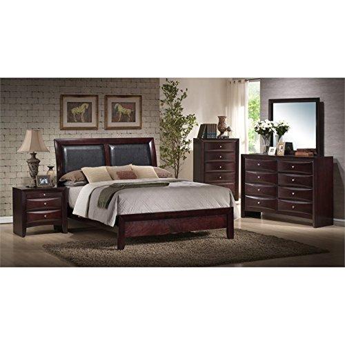 Elements Madison 6 Piece Queen Bedroom Set in Mahogany (Mahogany Bedroom Furniture Set)
