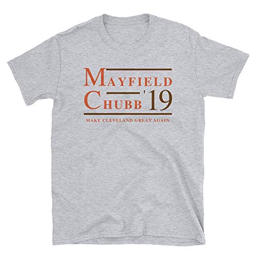 LiberTee Shirts Mayfield and Chubb Cleveland Football Tshirt, Make Cleveland Great Again Shirt, Soft 100% Cotton Printed in USA, Unisex