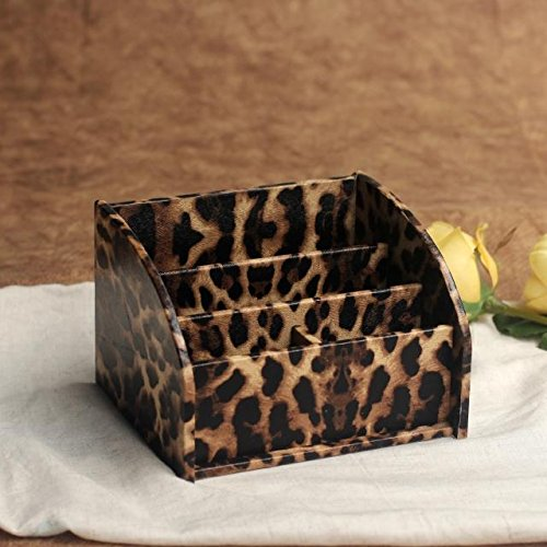 Storage Box Container Organizer for Phone/TV Remote Control/Makeup (Leopard) ()