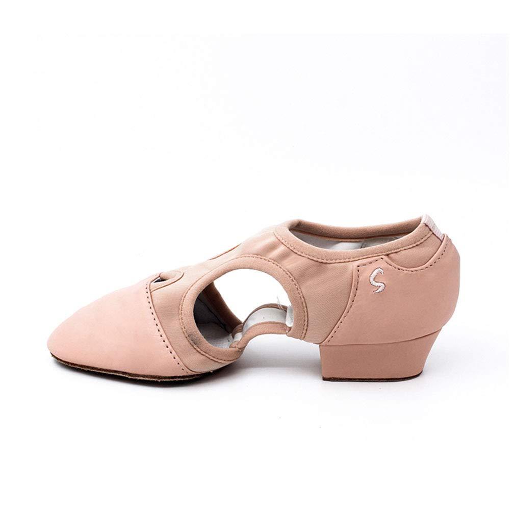 5d875f95ad6ec2 YAN Chaussures de Danse de Femmes de Ballet Chaussures Coach Chaussures  Soft Bottom Bas Talon Fitness ...