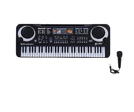 KELUNIS 61 Teclas electrónicas Digital Piano eléctrico Teclado Musical con micrófono para la educación de los