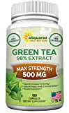 Green Tea Extract Supplement with EGCG – 180 Capsules – Max Potency Green Tea Fat Burner 500 mg Pills for Weight Loss, Boost Metabolism & Heart Health, All-Natural Low Caffeine Diet Detox Antioxidant Review