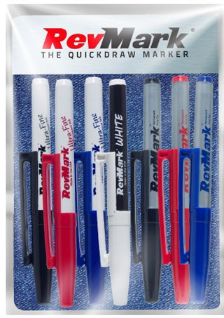 RevMark Industrial Markers - 7 Pack Starter Kit (Made in the USA) ()