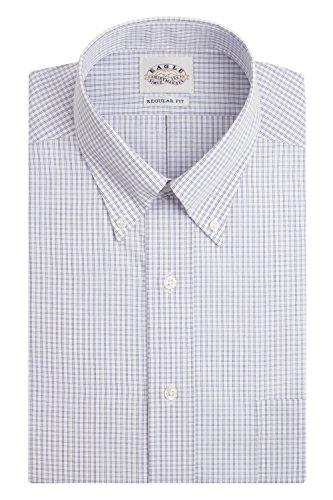 Eagle Mens Regular Fit Non Iron Windowpane Check Dress Shirt, Blue, (Windowpane Check Shirt)