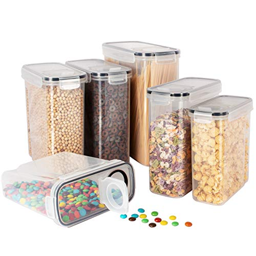 Kitsure Cereal Container with Easy Pouring Lids, Pantry Organization and Storage, Airtight Food Storage Containers for…