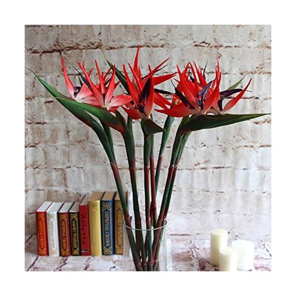 Potelin-Premium-Quality-Artificial-Flower-Bird-Of-Paradise-Fake-Plant-Silk-Strelitzia-Reginae-Home-Decor-Orange