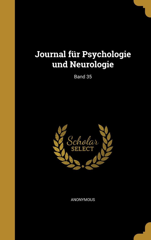 Read Online Journal Fur Psychologie Und Neurologie; Band 35 (German Edition) pdf epub