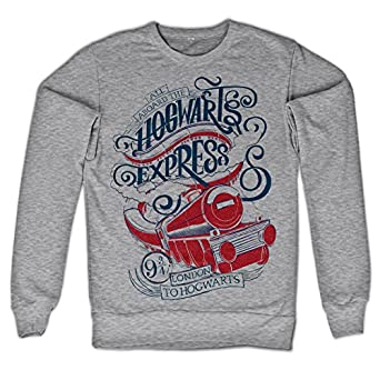Harry Potter Oficialmente Licenciado Inked All Aboard The Hogwarts Express Sudaderas (Heather Gris): Amazon.es: Ropa y accesorios