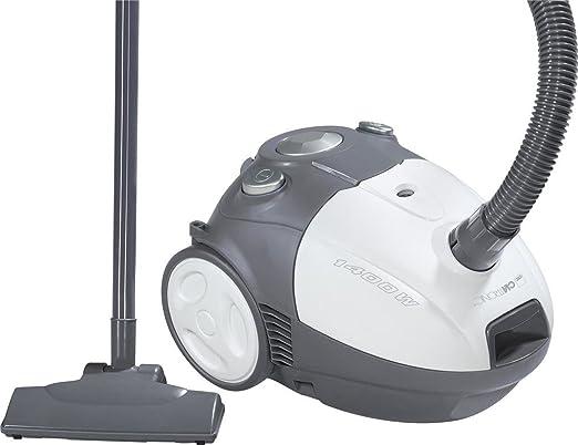 Clatronic 1264G - Aspirador con sistema de microfiltro de 6 niveles, indicador de bolsa llena, color gris: Amazon.es: Hogar