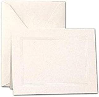 product image for Crane & Co. Pearl White Triple Debossed Frame Notes (CF6811)