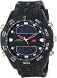 U.S. Polo Assn. Classic Men's US9114  Black Rubber Ana-Digital Watch, Watch Central